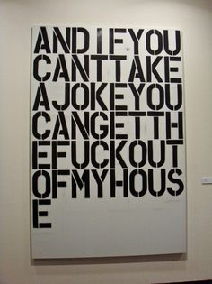 Oslo1003 121 Christopher Wool at Astrup Fearnley | Flickr - Photo Sharing! #wool #painting #art #type #christopher