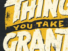Thing #text #yellow #poster #grunge #typography