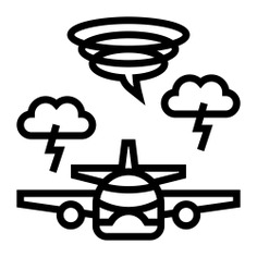 See more icon inspiration related to storm, weather, tornado, transportation, airplane, bolt, plane, lightning, nature and travel on Flaticon.