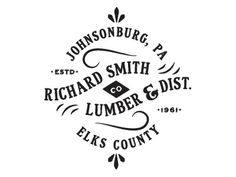 Dribbble - Smith Lumber. by Colin Miller #mark #logo #identity #typography