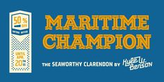 Maritime Champion Desktop font « MyFonts #font #f #vintage #type #typography