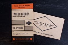 FPO: Tom, Dick & Harry Business Card #business #cards #identity #branding