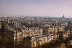 Looking down on Paris, from the Eiffel Tower. #paris #cityscape #france #travel #photography