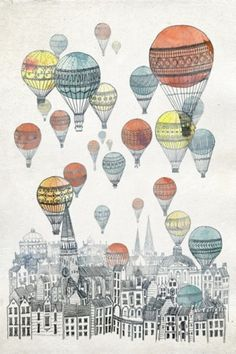tumblr_lp41kbRZ2w1qa85l7o1_500.jpg (467×700) #hot #air #illustrations #balloons