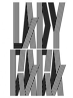 CUSTOM LETTERS, BEST OF 2010, DAY 1 — LetterCult #type #vector #lettering #black #alex trochut #lady gaga #stripe