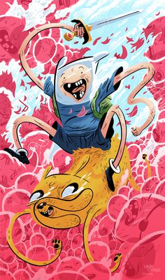 Adventure Time | Logan Faerber Illustration #faerber #jake #adventure #logan #illustration #finn #time