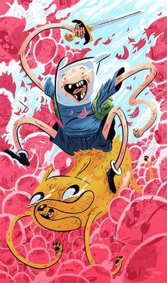 Adventure Time | Logan Faerber Illustration #faerber #jake #adventure #logan #illustration #finn #time