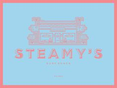 Steamy's Surf Shack #surf #icon #shop #store #brand #illustration #identity #type