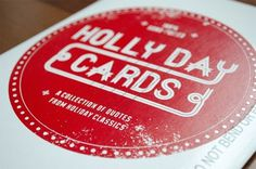 Holly Day Cards | Paper Crave #cards #screenprint #envelope #holiday