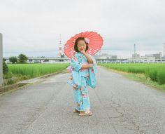 Japanese Photographer Takes Imaginative & Adorable Photos of His Daughter #nose #girl #asia #kid #child #geisha #japan
