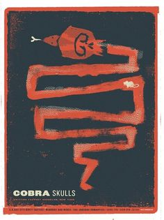 Cobra Skulls — Two Arms Inc. #music #screenprint #poster