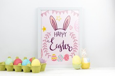 Happy easter day Free Psd. See more inspiration related to Flower, Mockup, Floral, Card, Template, Leaf, Typography, Spring, Leaves, Celebration, Happy, Font, Holiday, Mock up, Easter, Religion, Rabbit, Egg, Calligraphy, Lettering, Traditional, Greeting card, Bunny, Up, Day, Greeting, Carton, Cultural, Tradition, Ears, Mock, Seasonal, Bunny ears, Egg carton and Paschal on Freepik.