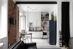Drop Anchors #interior #brick #design #decor #kitchen #wall #deco #decoration