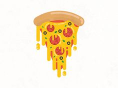 #illustration #pizza