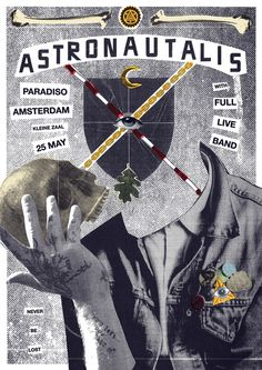 Astronautalis, Paradiso, Collage, Bones, Skull, Occult, Photocopier, DIY