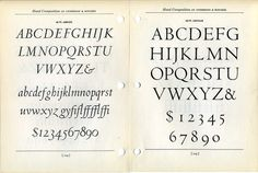 This type specimen shows Arrighi, designed by Frederic Warde and Centaur, designed by Bruce Rogers. Rogers felt unqualified to design an ita #type #specimen #font #typography