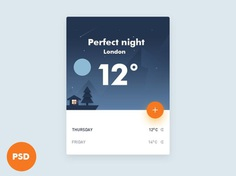 Weather UI Widget