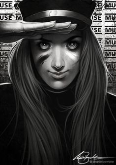 The Resistance by Charlie Bowater on deviantART #charile #portrait #bowater