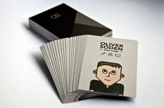 Personal Business Card #business #branding #card #identity #cartoon #grey