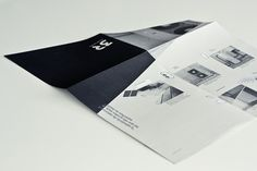 fold brochure / 3R on the Behance Network #brochure #concrete #fold