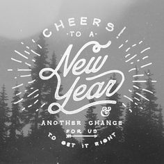 Cheers to the New Year on Behance, Noel Shiveley #typography #hand drawn
