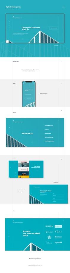 Digital ideas agency website concept on Behance