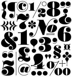 Worthe Numerals #numbers #type #font #typeface
