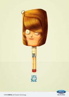 You are the Key. For FORD GREECE #illustration #advertising #character design #key #ford #bakea