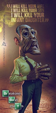 """Caricature of the \""""Bad Guys\"""" From the TV Show Breaking Bad by Anthony Geoffroy"""