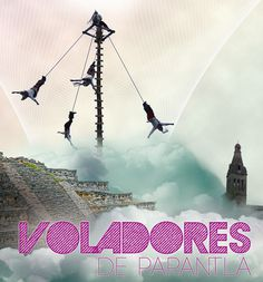 Papantla Flyers/ Voladores de Papantla #edition #photo #ilustracin #artwork #digital #illustration #manipulation #cd