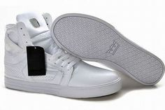 Men All White Supra Shoes Skytop II High #shoes