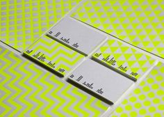 Nick Bell Starionery #businesscards #dots #grid #triangles #green