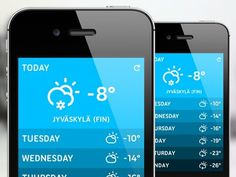Shot_weatherappdesign #iphone #web #mobile #ui