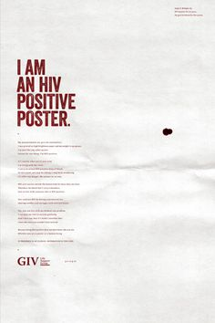 GIV – The HIV Positive Poster