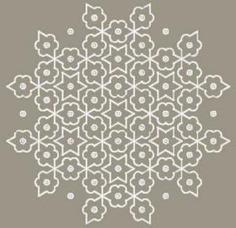 Simple Kolam Rangoli Design with Dots