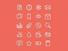 Flat Stroke Line Icons Set Vol1 #icon
