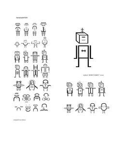Robot Family (Helvetica Nation) on Behance #helvetica #robot