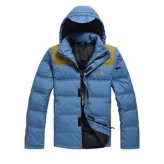 North Face Down Jacket Blue-Mens #fashion