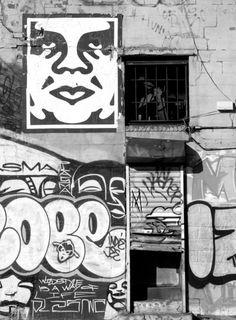 Cope #graffiti and Obey #pasteup #Blackandwhite