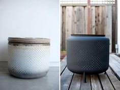 Turn a Washing Machine Drum Into a Backyard Fire Pit in Just 1 Hour for $10 #firepit