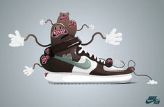 Sneaker's lover on the Behance Network #trainer #top #shoe #nike #illustration #sneaker #character #high