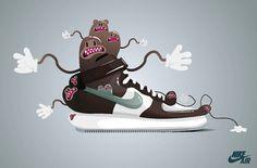Sneaker's lover on the Behance Network #trainer #top #shoe #nike #illustration #sneaker #character #high