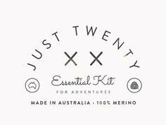 Just Twenty ~ Blanket Label #logo #label #branding