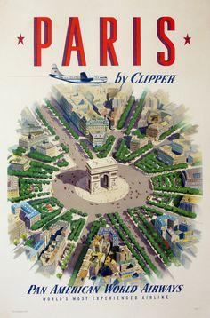 http://vepca.files.wordpress.com/2011/06/pan american paris.jpg #airplane #flight #travel #aeroplane #paris