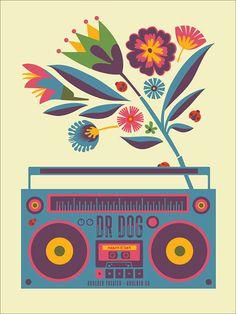 GigPosters.com - Dr Dog #gig #poster