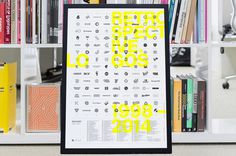 Logo Poster - Mash Creative #mash creative #poster #logos #screenprint