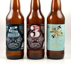 Schooner Exact Brewing Co. Bottles #packaging #beer #illustration #typography