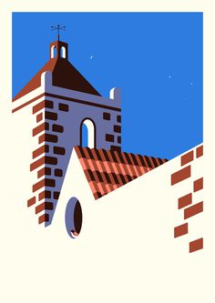 Fuerteventura by Malika Favre #illustration #graphic #flat #vector #malika favre