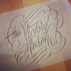 Typeverything.com - The Victory March by Erik Marinovich. #type #script #typography