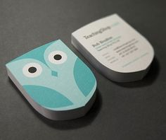 35 new business cards – Best of january and february 2011 « Blog of Francesco Mugnai #card #letterhead #owl